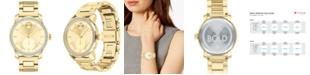 Movado Women's Swiss Bold Gold Ion-Plated Stainless Steel Bracelet Watch 34mm