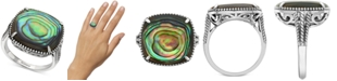 EFFY Collection EFFY® Abalone Cushion Statement Ring in Sterling Silver