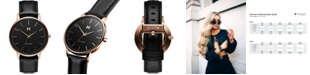MVMT Women's Boulevard Santa Monica Black Leather Strap Watch 38mm