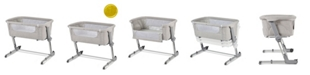Unilove Grey Hugme Plus Bedside Sleeper Bassinet Includes Mattress and Travel Bag