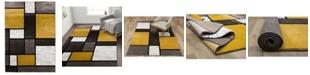 "Main Street Rugs Home Montane Mon106 Yellow 3'3"" x 5' Area Rug"