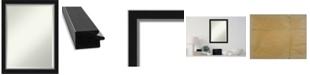 "Amanti Art Eva Silver-tone Framed Bathroom Vanity Wall Mirror, 21.12"" x 27.12"""