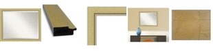 "Amanti Art Landon Gold-tone Framed Bathroom Vanity Wall Mirror, 31.38"" x 25.38"""