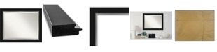 "Amanti Art Eva Silver-tone Framed Bathroom Vanity Wall Mirror, 33.25"" x 27.25"""