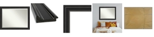 "Amanti Art Ridge Framed Bathroom Vanity Wall Mirror, 45.75"" x 35.75"""