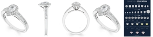 Macy's Certified Diamond (4/5 ct. t.w.) Pear Engagement Ring in 14k White Gold