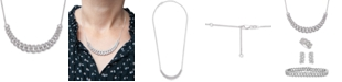 """Wrapped in Love Diamond Link Detail 18"""" Pendant Necklace (1 ct. t.w.) in Sterling Silver, Created for Macy's"""