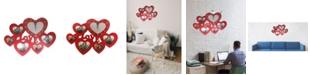 Creative Motion Heart Love Clock with 5 Heart Photo Frames