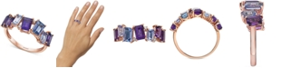 EFFY Collection EFFY® Multi-Gemstone (2-1/2 ct. t.w.) Amethyst, Tanzanite & Diamond Accent Statement Ring in 14k Rose Gold