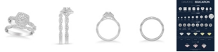 Macy's Diamond Halo Bridal Set (1 1/4 ct. t.w.) in 14k White, Yellow or Rose Gold