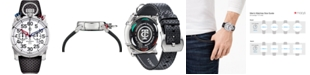 CT Scuderia Men's Swiss Chronograph Corsa Black Perforated Leather Strap Watch 44mm