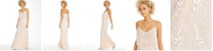 Adrianna Papell Beaded Embroidered Gown
