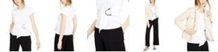 INC International Concepts INC Cotton Belted-Detail Top, Created For Macy's