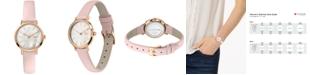 Lacoste Women's Swiss Moon Pink Leather Strap Watch 28mm