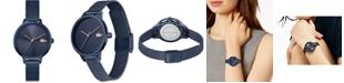 Lacoste Women's Swiss Cannes Blue Stainless Steel Mesh Bracelet Watch 34mm