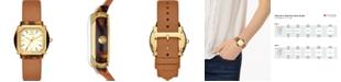 Tory Burch Women's Blake Brown Leather Strap Watch 34mm