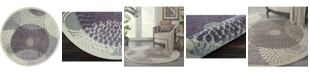 Long Street Looms Chimeras CHI04 Gray 4' Round Area Rug