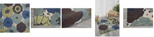 "Long Street Looms Backyard BAC021 Mist 5'3"" x 5'3"" Square Area Rug"