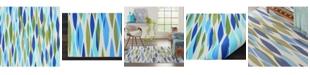 """Long Street Looms Shady Brights SHA01 Aquamarine 5'3"""" x 7'5"""" Area Rug"""