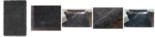 "Long Street Looms Cali Shag CAL01 Charcoal 2'6"" x 4' Area Rug"
