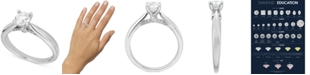Macy's Round Solitaire Diamond Engagement Ring (3/4 ct. t.w.) in Platinum