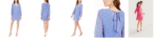 INC International Concepts INC Bow-Back Dot-Print Shift Dress, Created for Macy's