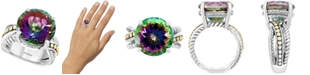 EFFY Collection EFFY® Mystic Topaz Statement Ring (12-5/8 ct. t.w.) Ring in Sterling Silver & 18k Gold