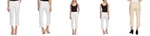 Vince Camuto Women's Cotton Doubleweave Side Zip Pant