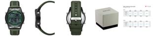 Kenneth Cole Reaction Men's Dress Sport Round Green Silicon Strap Watch 47mm