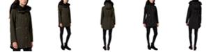 Sam Edelman Faux-Fur-Trim Hooded Raincoat