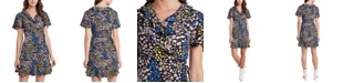 Riley & Rae Natalie Floral-Print Wrap Dress, Created for Macy's