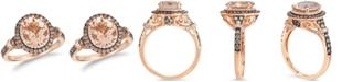 Le Vian Peach Morganite (1-3/4 ct. t.w.) & Diamond (3/4 ct. t.w.) Ring in 14k Rose Gold