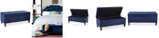 Madison Park Catarina Fabric Storage Bench, Quick Ship
