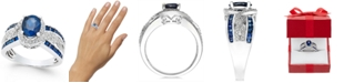 Macy's Sapphire (2-3/4 ct. t.w.) and Diamond (1/3 ct. t.w.) Ring in 14k White Gold
