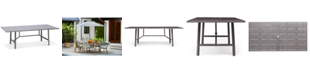 """Furniture Wayland Aluminum 84"""" x 42"""" Rectangle Outdoor Dining Table, Created for Macy's"""