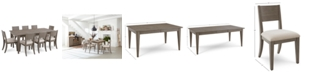 Homefare Tribeca Grey Expandable Dining Furniture, 9-Pc. Set (Dining Table & 8 Side Chairs), Created for Macy's