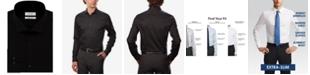 Calvin Klein Calvin Klein Men's STEEL Extra-Slim Fit Non-Iron Performance Herringbone Dress Shirt