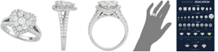 Macy's Diamond Heart Cluster Engagement Ring (1-1/2 ct. t.w.) in 14k White Gold