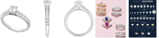 Macy's Certified Diamond Engagement Ring (1-1/4 ct. t.w.) in 14k White Gold