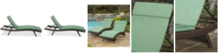 Furniture Hawkins Outdoor Chaise Lounge (Set Of 2), Quick Ship