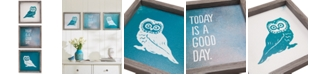JLA Home   Intelligent Design Wise As An Owl Gel-Coated 3-Pc. Framed Print Set