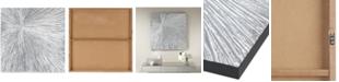 JLA Home Madison Park Signature Sunburst Silver-Tone Resin Dimensional Box Wall Art