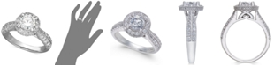 X3 Diamond Engagement Ring in 18k White Gold (1-1/2 ct. t.w.), Created for Macy's