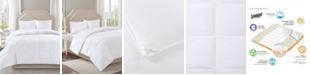 Sleep Philosophy Level 2 300 Thread Count Cotton Sateen White Twin Down Comforter with 3M Scotchgard