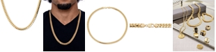 """Macy's Men's Cuban Link 26"""" Chain Necklace in 18k Gold-Plated Sterling Silver"""