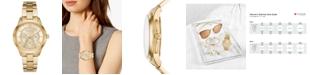 Michael Kors Women's Runway Gold-Tone Stainless Steel Bracelet Watch 38mm