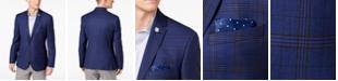 Nick Graham Men's Slim-Fit Stretch Blue Windowpane Sport Coat, Online Only