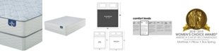 """Serta Sertapedic 10"""" Honeytree Firm Mattress Set- King"""