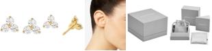 Michael Kors Women's Sterling Silver Cubic Zirconia Cluster Studs