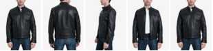Michael Kors Men's Perforated Leather Moto Jacket, Created for Macy's